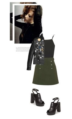 """Leather jackets & long hair"" by beautifullylovely ❤ liked on Polyvore featuring Topshop and Coach"