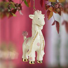 Baby Girl's 1st Christmas Giraffe Ornament by Lenox