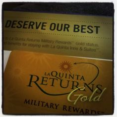 Got myLa Quinta Inns & SuitesReturns Gold card today!They have#MilitaryDiscounts, Bonus points, and are#PetFriendlyInns  Suites!          Join Military Rewards Now --->https://www.returns-enewsletter.com/militaryHome.jspx      #Milso#ArmyWife#MilitaryLife#ArmyLife