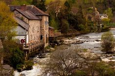This Welsh Village Photograph was taken in a beautiful little village of Llangollen on the River Dee in Wales during our week long trip around the UK  - by Lost Kat Photo lostkat.com