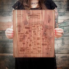 Hand-drawn and then etched into aromatic cedar. Doesn't get much better than that.