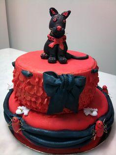 Torta gatto nero. Halloween 2012.