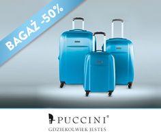 Nie macie w co się spakować na majówkę? Potrzebujecie super wytrzymałej nowej walizki lub torby i to w promocyjnej cenie? Mamy dla Was idealnie rozwiązanie. Zapraszamy do sklepów Puccini. Tylko do końca miesiąca dajemy rabat na bagaż: w salonach detalicznych -30%, a w outletach -50%.