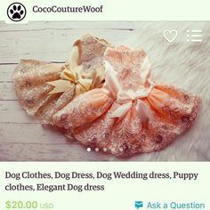 Now available! These gorgeous dresses are unbelievably adorable! Sequins? Yes please!  #cococouture #doggyfashion #dog #dogclothes #dogjacket #rgv #mcallen #dogshirt #doggycouture #doghoodie #dogfashion #etsyseller #etsyshop #puppy #collar #dogcollar #butterfly #dogdress #dogwedding #partydress #dogbirthdaydress #dogbirthday #dogparty by cococouture.woof #lacyandpaws