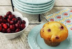 These cranberry muffins are light and airy. A perfect balance of sweet and tart, they are great for breakfast, lunch or a snack. Betcha can't eat just one!