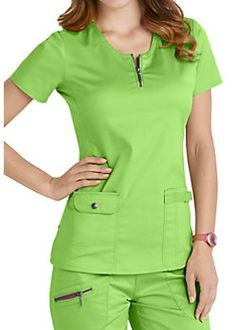 Beyond Scrubs Mia Zip Front Scrub Tops Scrubs Outfit, Scrubs Uniform, Womens Fashion For Work, Work Fashion, Healthcare Uniforms, Scrubs Pattern, Stylish Scrubs, Cute Scrubs, Womens Scrubs
