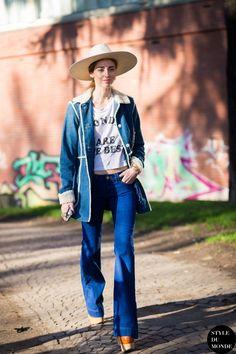 #New on #STYLEDUMONDE http://www.styledumonde.com with @chiaraferragni #ChiaraFerragni at #milan #fashionweek #mfw #vintage #denim #outfit #ootd #streetstyle #streetfashion #streetchic #streetsnaps #fashion #mode #style