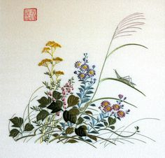 antique japanese embroidery insects - Google Search