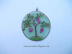 Epoxy resin jewelry and wire tree with nail polish
