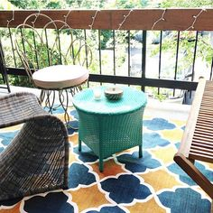 Homegoodsa - Such a fun outdoor space designed by @HighFashion4Less. #fanfinds #homegoodshappy #balcony #Padgram