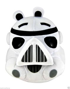 """Angry Birds 5"""" Star Wars Black/White Plush Storm Trooper Officially Licensed  3+  - May 20, 2014 - $12.99 - #FreeShipping"""