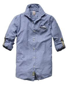 Long-sleeved shirt with pochet - Scotch & Soda