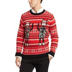 Men's Robot Ugly Christmas Sweater