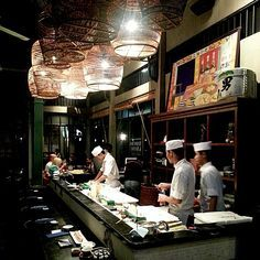 Interior design of In the Mood for Love - a Japanese fusion restaurant in Thong Lo, Bangkok.