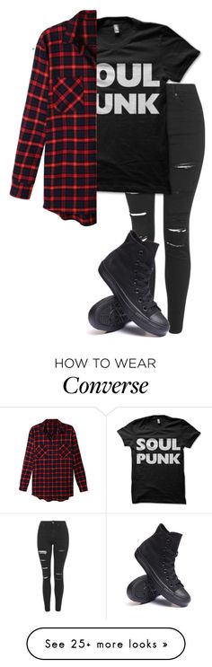 """Untitled #573"" by bands-are-my-savior on Polyvore featuring Topshop, LE3NO and Converse"