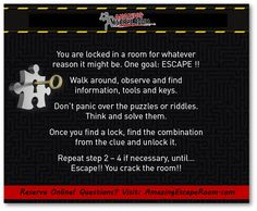 How to play an Escape Game at Amazing Escape Room Los Angeles!