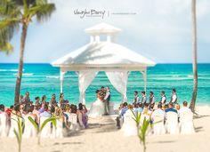 Majestic Colonial Punta Cana Wedding Gazebo on the beach by Vaughn Barry Photography www.vaughnbarry.com