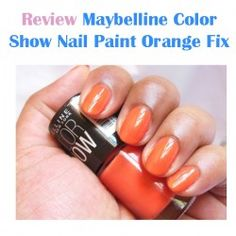 http://www.pintalabios.info/en/reviews/view/en/17 New #review on pintalabios.info Maybelline Color Show Nail Paint Orange Maybelline Color Show Nail Paint Orange Fix Review  Pros of Maybelline Color Show Nail Paint Orange Fix:-  Bright orange shade Decently pigmented Dries quickly Glossy Creamy finish Requires 2 coats for rich color Lasts for 3-4 days Streak free application Chip resistant formula Perfect summer shade Budget Friendly Available in 40 shades in varying finishes   Cons of…