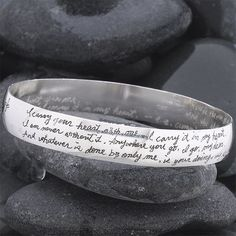 """e e cummings bracelet. """"I carry your heart"""". I am on the search to find this where it is still available for purchase!"""