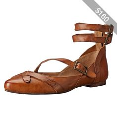 FRYE Women's Olive Strappy Ballet Flat