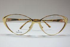 GUCCI Vintage Eye Glasses / Cat Eye Glasses / Retro Glasses / Vintage Eyewear on Etsy, $350.00