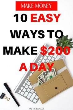 Want to make $200 a day, learn how to easily make $200 a day with this article. #passiveincome #bloging #makemoneyblogging Make Money Fast Online, Make Quick Money, Make Money Blogging, Make Money From Home, Money Tips, Legit Work From Home, Work From Home Jobs, Online Jobs For Moms, Creating Passive Income