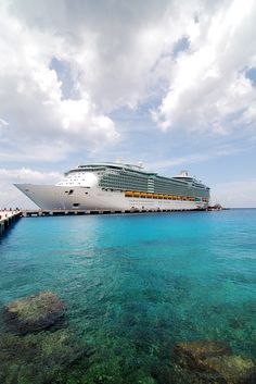 Liberty of the Seas tied up at Cozumel, Mexico.