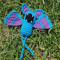 Zubat uses a crochet cord for his legs so you'll need to watch the tutorial for that.