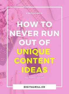 Overcome writer's block with content strategies to never run out of unique content ideas. For creative, fresh blog content ideas, read now or pin for later >>