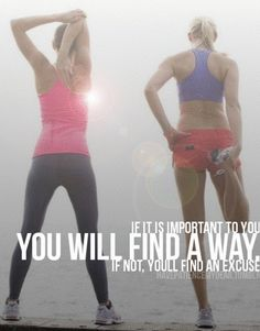 Prioritize your fitness progress...you'll thank yourself later when you see the results!