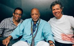 """""""Chick and Herbie Hancock hanging backstage with Quincy Jones at the Montreux Jazz Festival. Jazz Composers, Jazz Musicians, Rock Artists, Music Artists, Montreux Jazz Festival, Chick Corea, Sax Man, Charles Mingus, Herbie Hancock"""