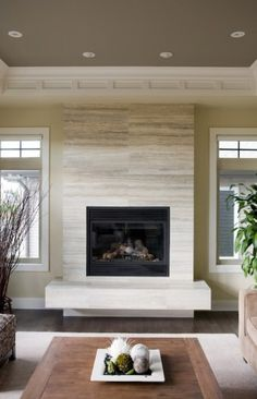 nice fireplace, maybe without the giant ledge.