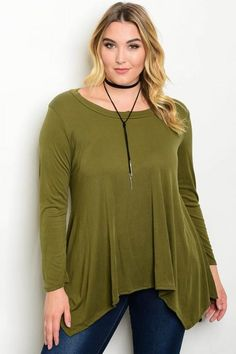 7d08681052fac Olive Plus Size Top. Zelle Boutique