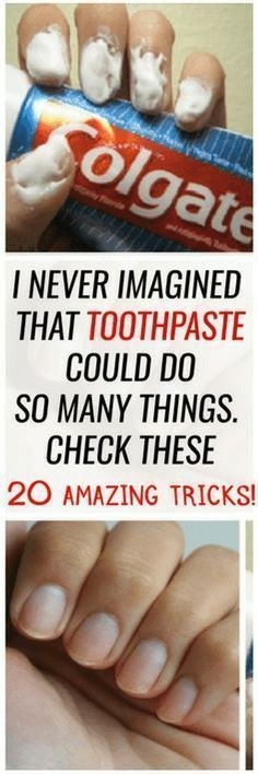 I NEVER IMAGINED THAT TOOTHPASTE COULD DO SO MANY THINGS. CHECK THESE 20 AMAZING TRICKS!!!!!