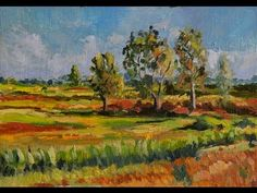"Пишем пейзаж ""Наедине""/Oil painting tutorial ""Alone with Nature"" - Artist Otto Steinach - YouTube"