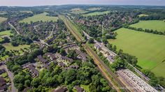 Coulsdon Aerial Shot, Looking South from Woodplace Lane