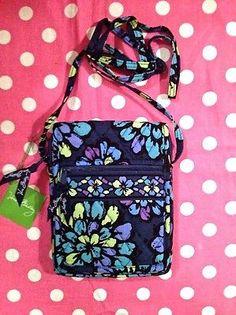 New Vera Bradley Indigo Pop Mini Hipster Purse Crossbody Small Messenger Bag | eBay