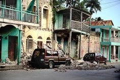 Shown here Jan. are buildings in Jacmel, Haiti, that were destroyed by the earthquake that hit the region Jan. Haiti And Dominican Republic, Recent Earthquakes, Architecture Art Design, Disney Fantasy, Celebrity Cruises, Princess Cruises, Royal Caribbean, White Sand Beach