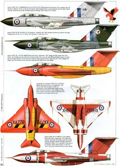 Gloster Javelin Supersonic Aircraft, Ww2 Aircraft, Military Aircraft, Plane Drawing, Aircraft Painting, Aircraft Design, Royal Air Force, Space Shuttle, Nose Art