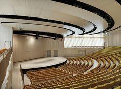 Gallery of Aula Medica / Wingårdh Arkitektkontor - 17 Auditorium Architecture, Theater Architecture, Auditorium Design, Church Architecture, Architecture Design, Architecture Quotes, Church Interior Design, Church Stage Design, Floor Design