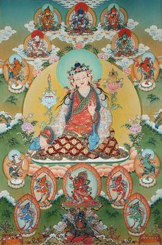 The father of Tibetan Medicine, Yuthok sitting in mandala