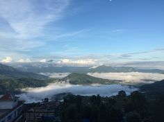 View from the balcony of Hotel Gorkha Bisauni where you can feel just like living in a city above the cloud :)