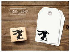 Tiere - Stempel Hase Jasper - ein Designerstück von catsonappletrees bei DaWanda