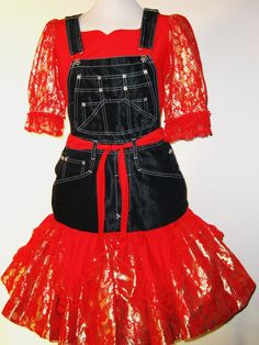 Square dance dress a one of a kind red and by Barbs3daughters, $98.00