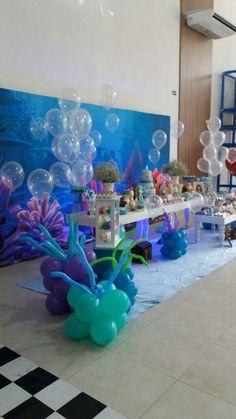 Momento Mágico Decorações : Fundo do Mar Menina painel 3d