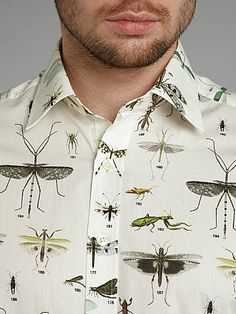 Insect print slim fit shirt 62e831760