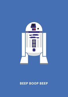 Star Wars Minimalism - R2D2 Art Print