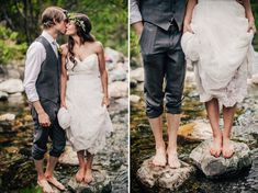 Amazing, woodsy wedding photos- ceremony and reception!