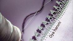 661- Kum boncuk oyası yapılışı - YouTube Needle Lace, Scarf Styles, I Dress, Crochet Projects, Elsa, Make It Yourself, Embroidery, Diamond, Silver