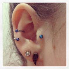 Ear piercings. Really like the loop